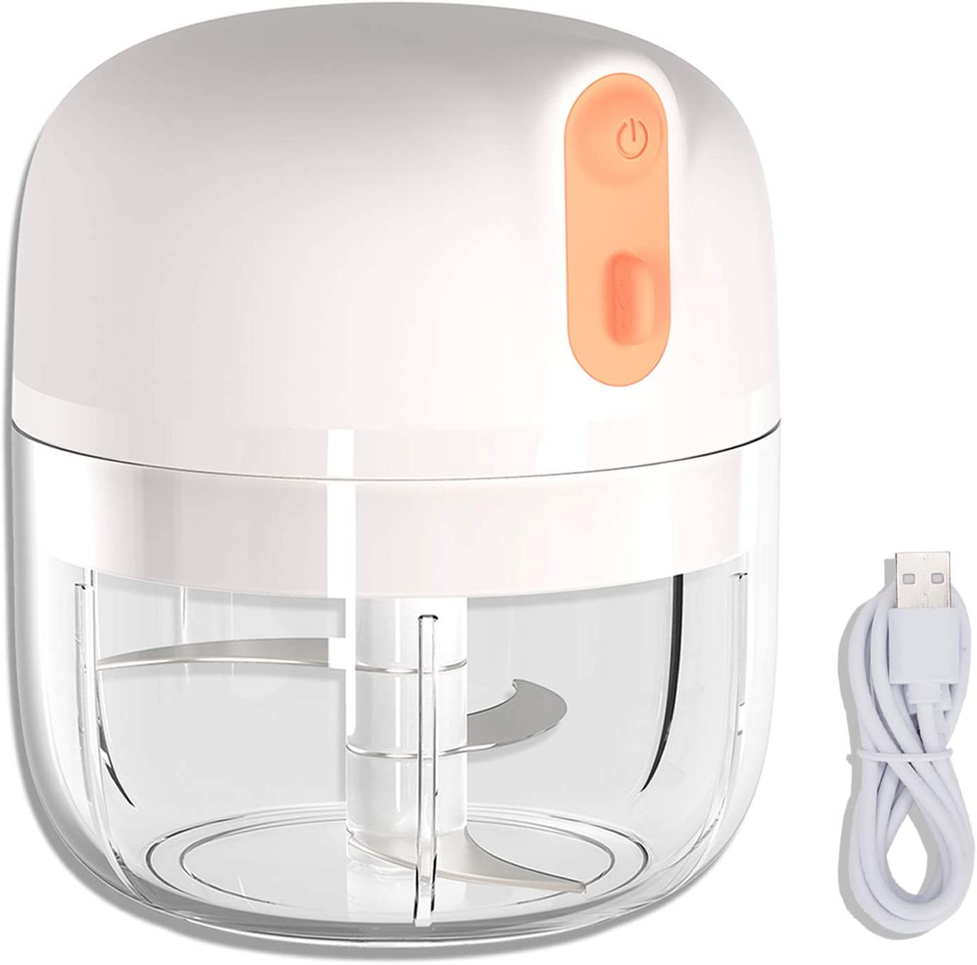 Electric Mini Food Chopper, 250ML Wireless Portable Electric Mini Food Processor, Waterproof and Easy to Clean,Vegetable Chopper for Slicing, Shredding, Mincing & Puree