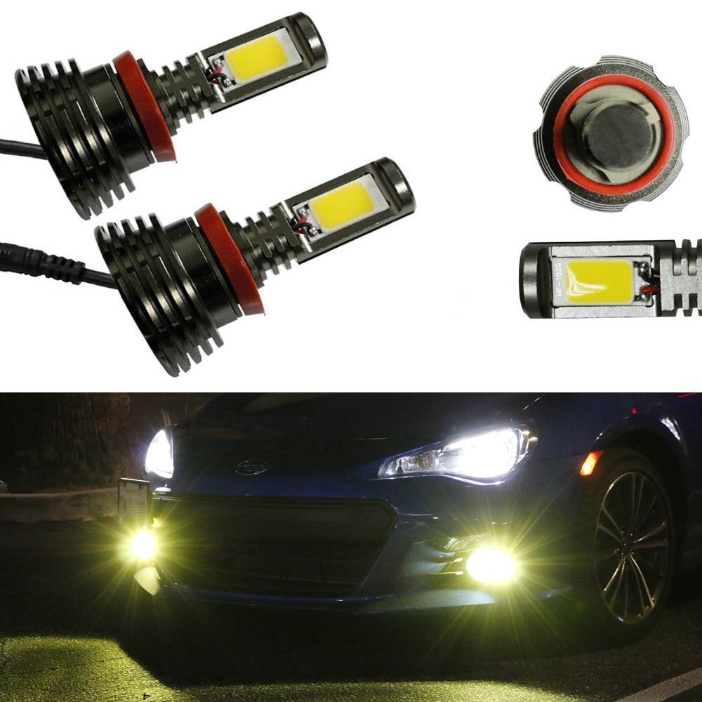 Ijdmtoy 2 Super Bright 3000k Yellow 40w H11 H8 Cob Led 1963 Volkswagen Beetle Wiring Harness Conversion Kit For Fog Lights Or Headlights Automotive