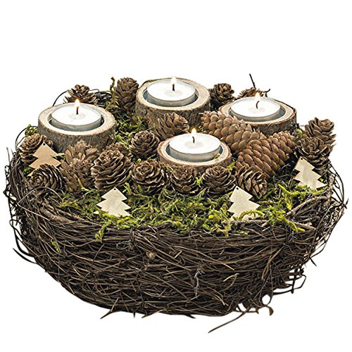 Outdoor Lighted Advent Wreath - 5