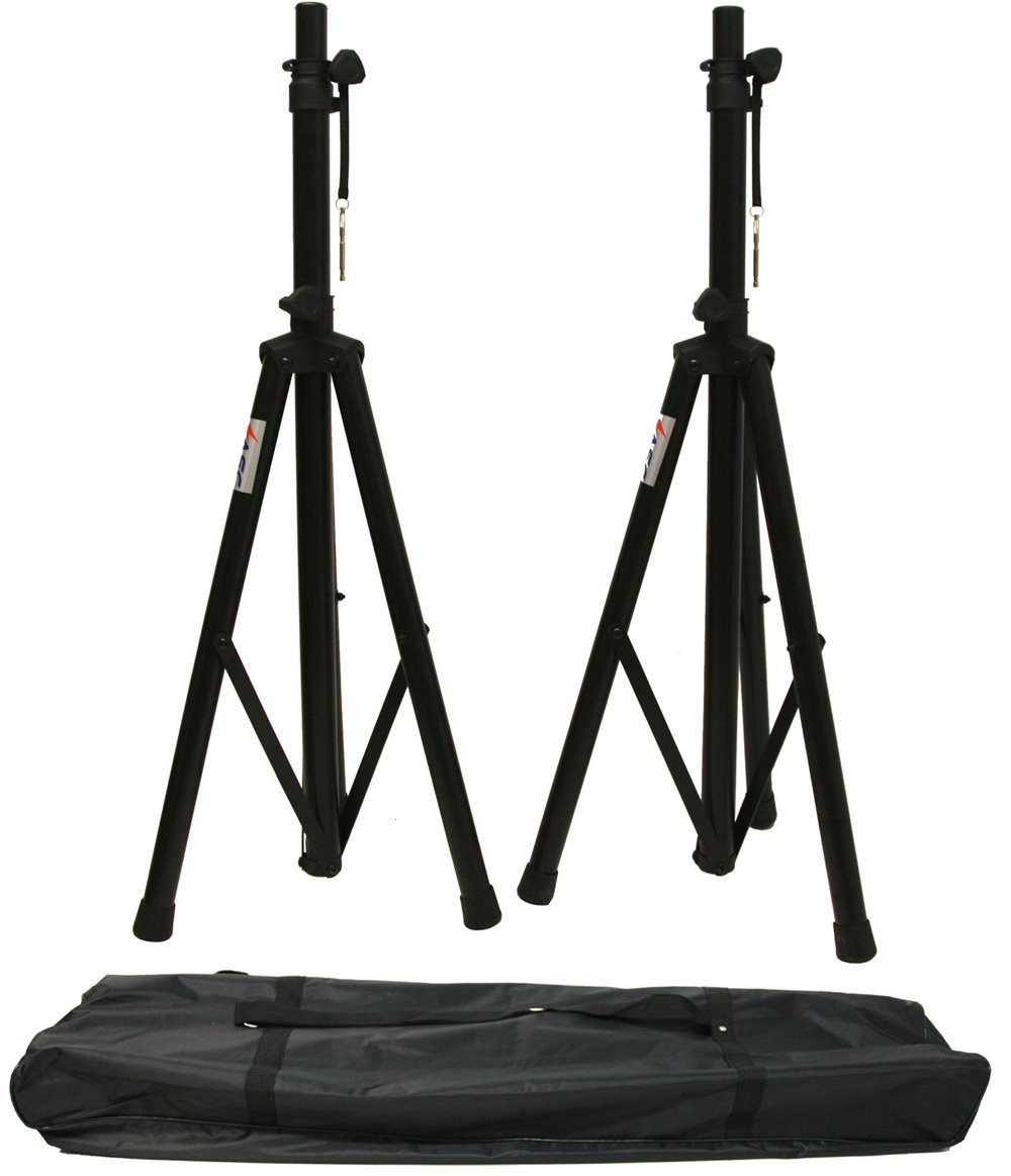 ASC (2) Pro Audio Mobile DJ PA Speaker Stands or Lighting 6 Foot Adjustable Height Tripod & Nylon Travel Bag by American Sound Connection