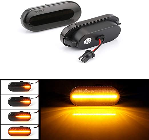 BLACK LED SIDE REPEATERS INDICATORS FORD FUSION GALAXY VW LUPO SEAT IBIZA
