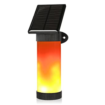 Guaiboshi Flamme Lampe Außenleuchte Wasserdicht IP65 LED Solarlampe  Flammenlicht Wandleuchte Path Licht Warmweiß Flackerlicht Tanzen Flamme  Licht ...