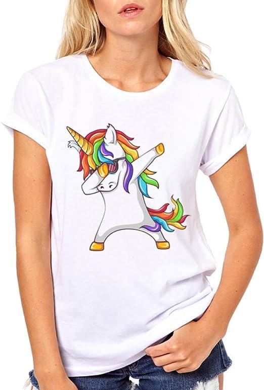 ZCYTIM Camisa Arcoiris para Mujer 2019 Primavera Verano Moda Mujer Tops Camisetas para Mujer Camisetas de Manga Corta Casuales: Amazon.es: Deportes y aire libre