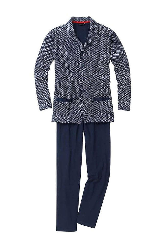 Götzburg Button Pyjama Alan navy S bis 2XL Doppelpack