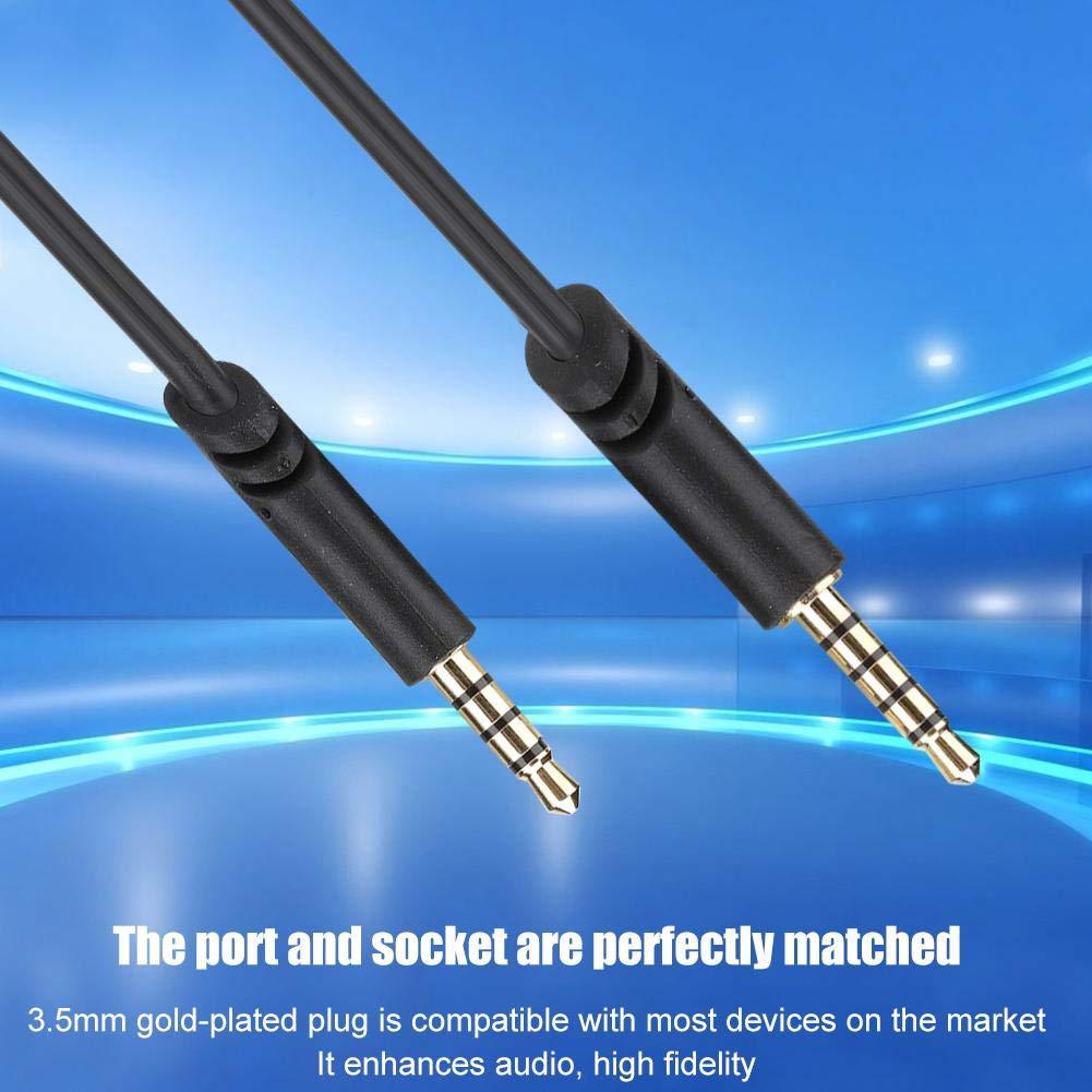 Cable de auriculares para juegos, enchufe chapado en oro TPE Cable ...
