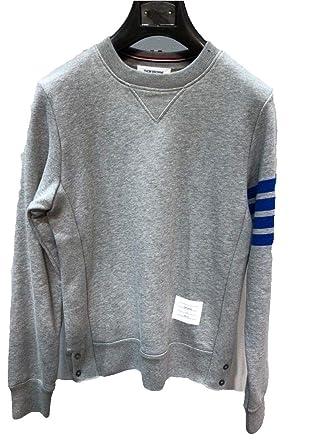 7859f2f7b40 Supboxlab Designer Thom Browne Grey Classic Four Bar Sweatshirt (Xtra Small)