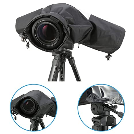 iKross Cubierta Impermeable Profesional de Cámara para Cámaras DSLR Canon, JVC, Nikon, Fujifilm, Olympus, Panasonic, Pentax, Ricoh, Samsung, Sony y ...