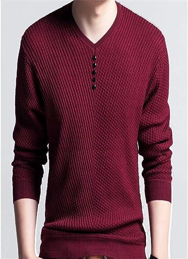 Flying Lisa Sweater Hombres Casual Jersey con Cuello en v ...