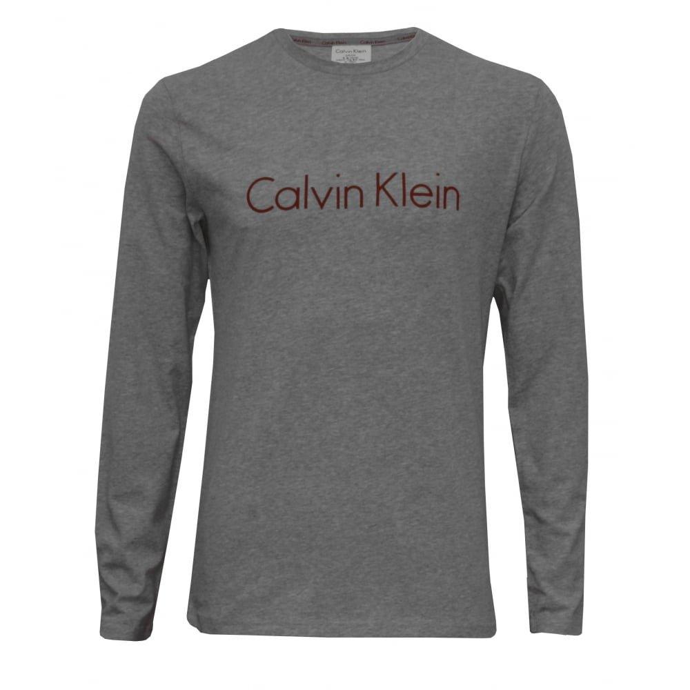 Calvin Klein Conjunto Pijama De Franela Chicos Camiseta Manga Larga Logo Metálico, Burdeos/Gris Heather: Amazon.es: Ropa y accesorios