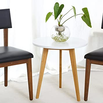 Amazon Asunflower 4335392395 Wood Round Coffee Modern End Table
