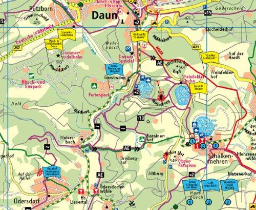 Eifel Maare Und Vulkane Rad Und Wanderkarte Mit Ausflugszielen