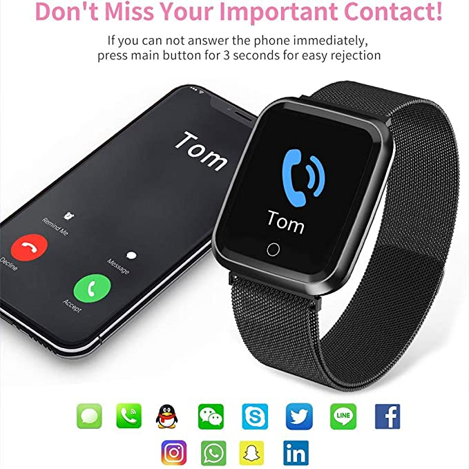 Amazon.com: Smart Watch, Unisex Waterproof IP68 Men Women ...