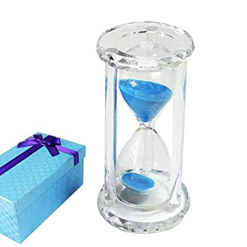 amazon com kozyhouse 30 minute hourglass timer with blue sand and