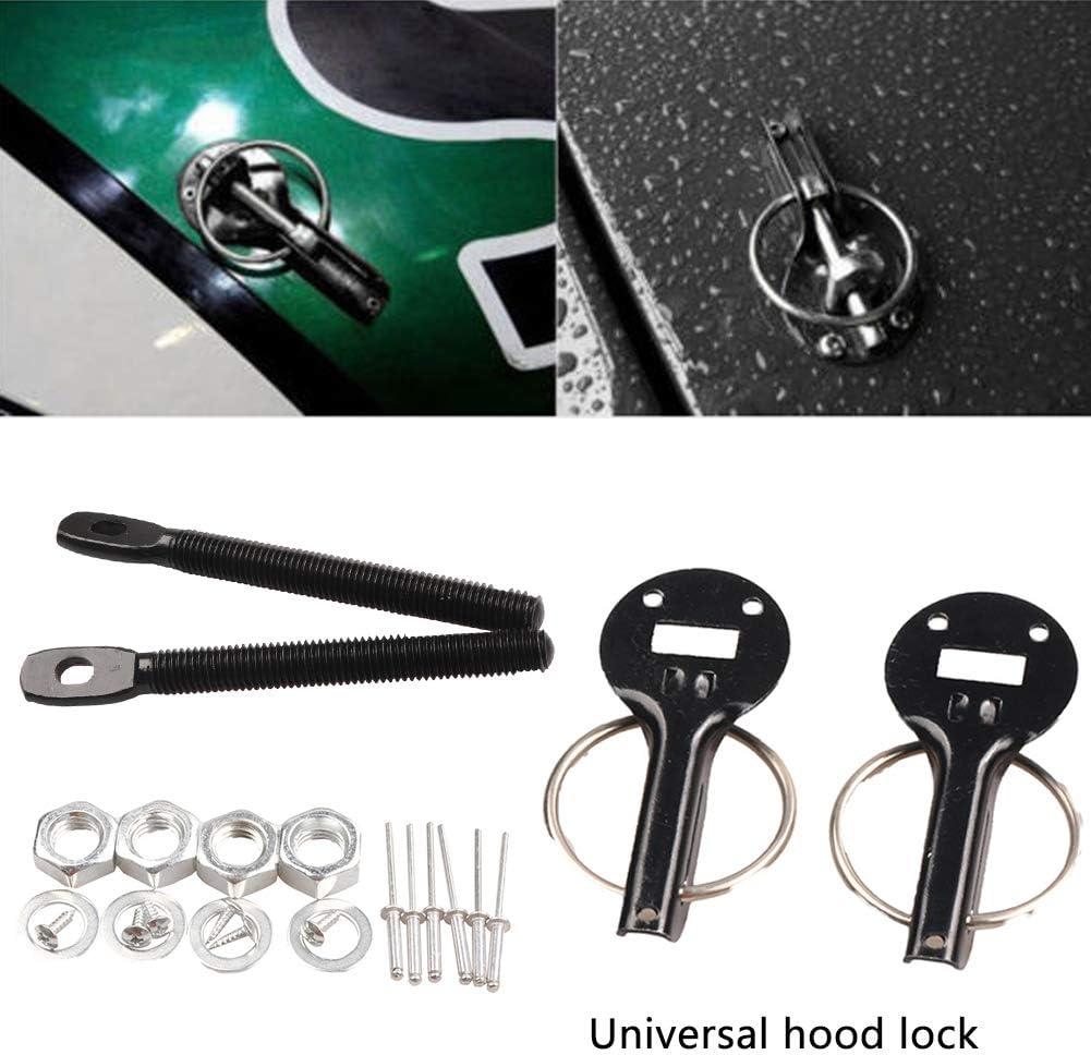 Hood Lock Hood Lock Pins Durable for Racing Sport Car Stainless Steel Car Engine Bonnet Hood Pin Lock Kit