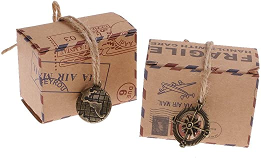 Naisidier 50 PCS Ducha bebé bebé Huella diseño Chocolate Caja de ...