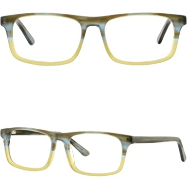 18897fd3f3b Image Unavailable. Image not available for. Color  Rectangle Men Women  Acetate Frame Light Prescription Glasses ...