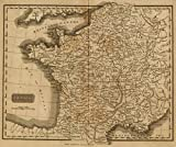 1825 School Atlas | France. Philad., Published by M. Carey & Son, 1820. (1825) | Antique Vintage Map Reprint