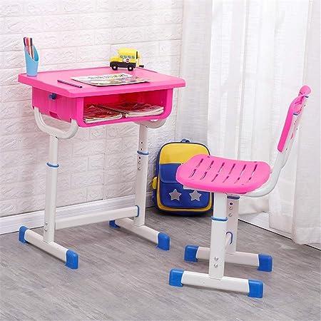 LYATW Niños Mesa y sillas Estudio Conjunto, Altura Ajustable de ...