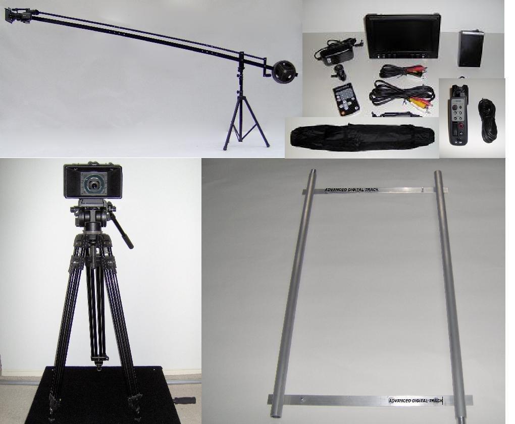 12 ft。カメラクレーンジブwithスタンド、LCD、ドリー、リモートとバッグ   B00A94VWCC