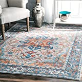 nuLOOM Grey Persian Medallion Caterina Rug, 7 Feet 10 Inches by 10 Feet 10 Inches Review