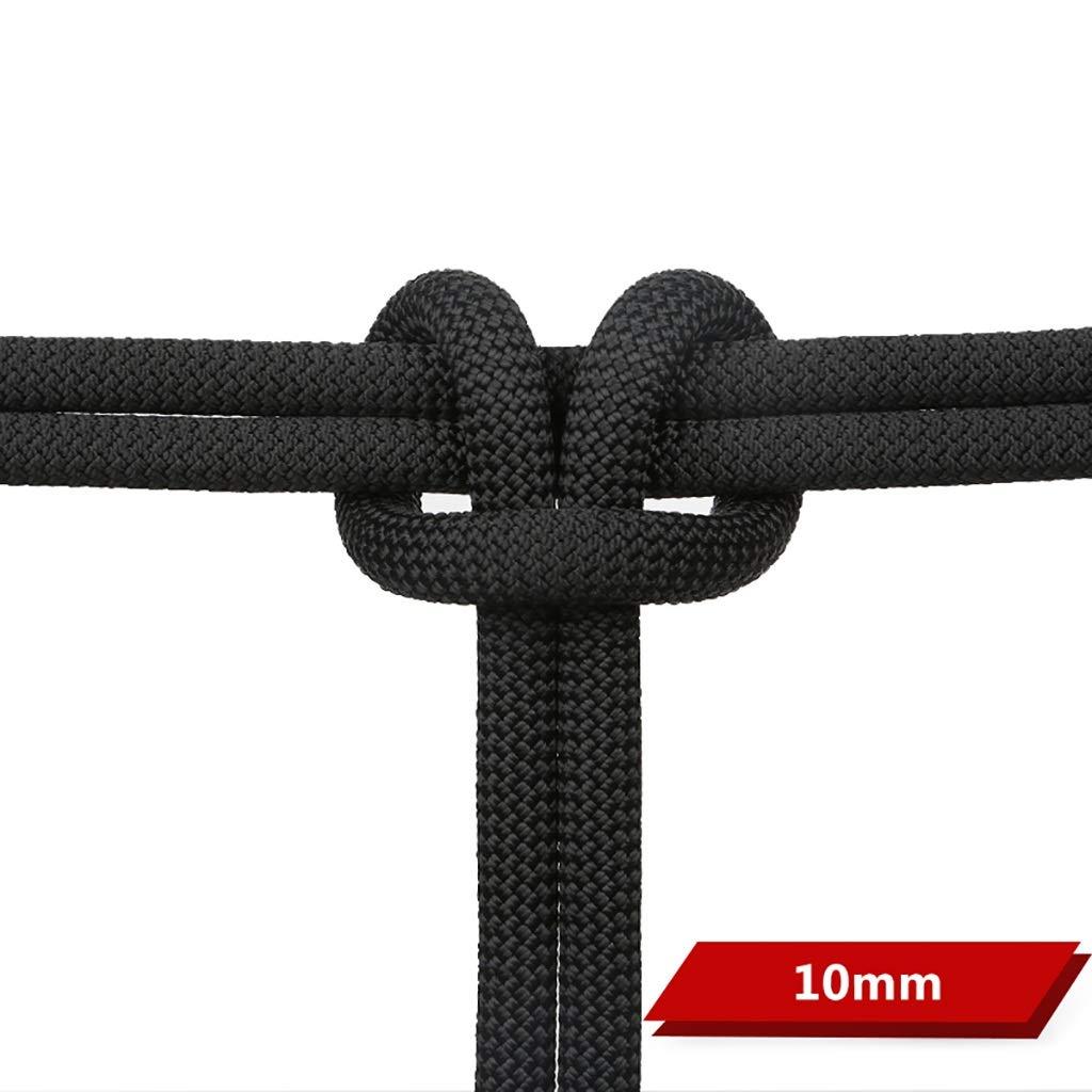 クライミングハーネス 直径10mmのオプションのDuPontワイヤースタティックロープ、マルチカラーのオプションの屋外クライミングロープ (色 : ブラック, サイズ さいず : 10mm-30m) 10mm-30m ブラック B07R5WNGCF