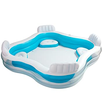 Intex Swim Center Family Lounge Inflatable Pool 90quot X