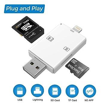 Adaptador de lector de tarjetas SD, lector de tarjetas USB ...