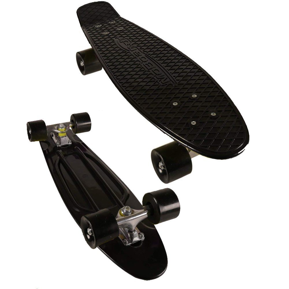 MoBoard Vintage Style Classic 27'' Skateboard, Black