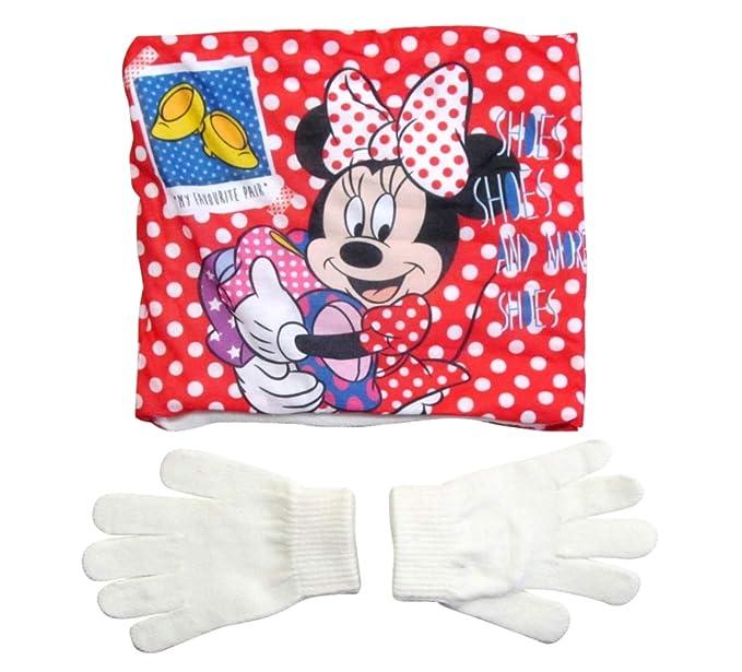 Minnie Mouse Minnie Mouse Snood Schal und Handschuhe Mädchen