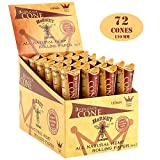 pre rolled king size cones - HORNET 72 Pre-Rolled Cones Natural Hemp King Size Organic Cigarette Rolling Papers with Tips-24 packs of 3 cones (110mm)
