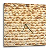 3dRose dpp_112943_3 Matzah Bread Texture Photo-for Passover Pesach-Funny Jewish Humor-Humorous Matzo Judaism Food-Wall Clock, 15 by 15-Inch