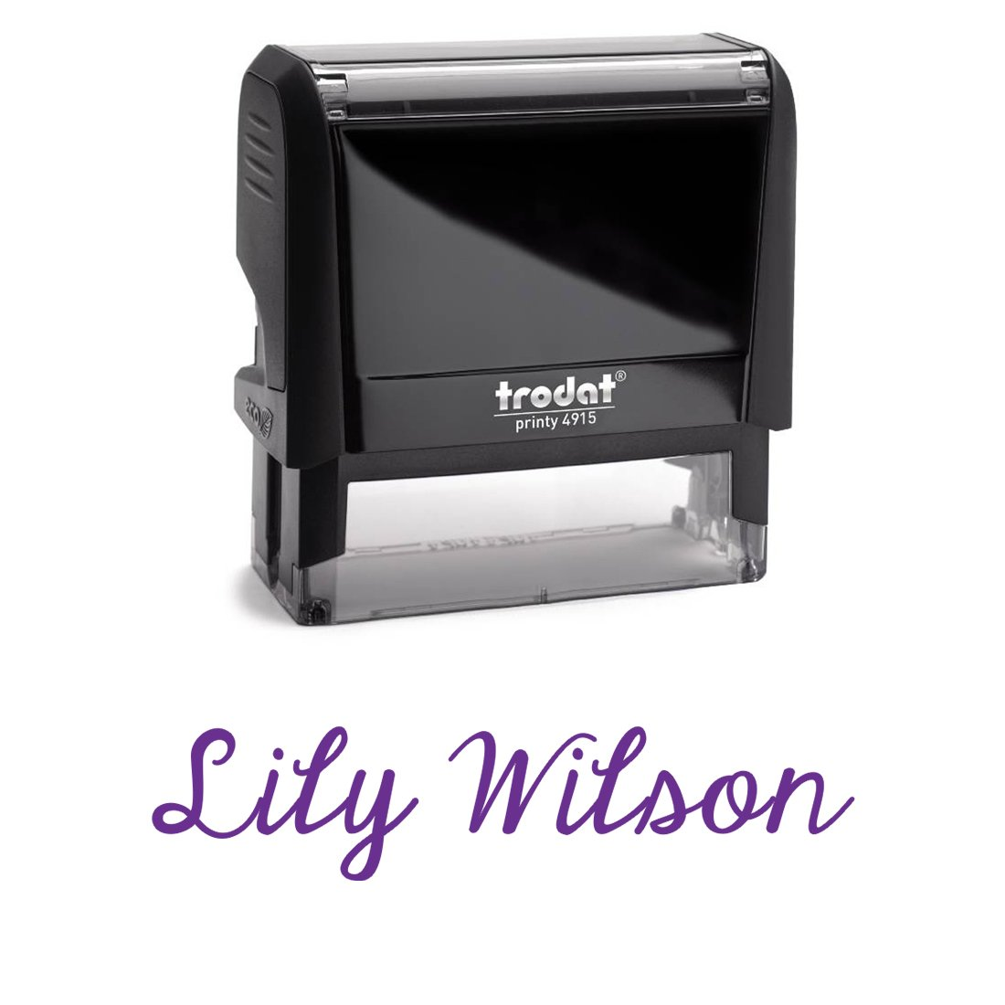 Personalized Custom Signature Stamp. Great Labelling Self Inking Stamp With Unique Font. Perfect For Bank Deposits, Registered Nurses, Home, Office Or School Purple Ink, Self Inking Stamp