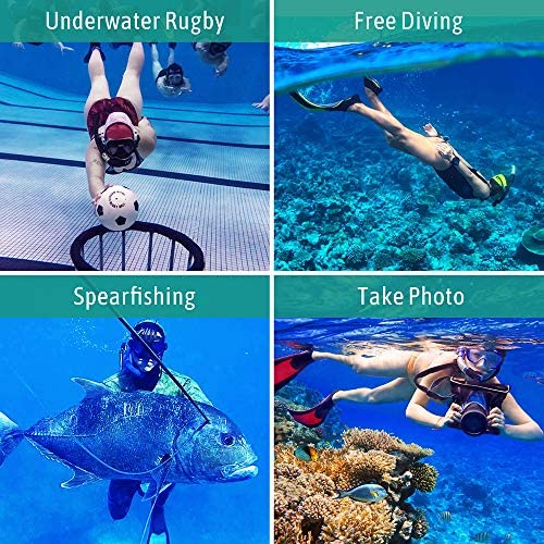 Foldable Dry Snorkel Set with Dry-Wet Switchable Float Valve Purge Valve Tube Anti Fog 180 Panoramic Silicone No Leak Seal Mask for Adults and Youth Dry Snorkel Mask Set Snorkeling Gear