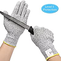 Kuelor Cut Resistant Food Grade Kitchen Gloves (Medium)