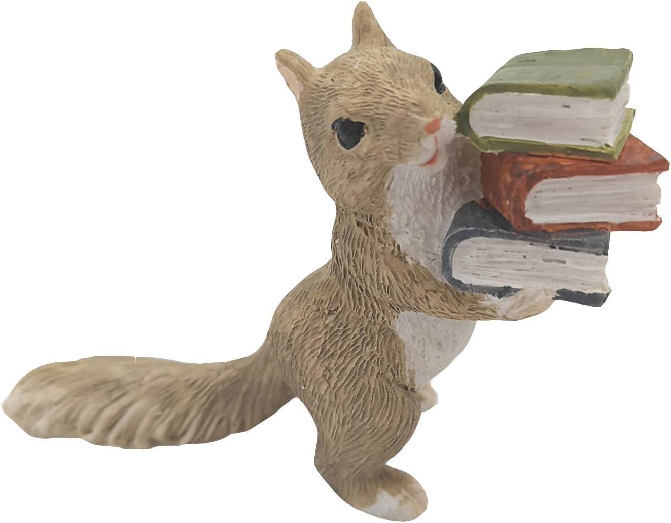 Gemmia Miniature Fairy Garden Squirrel Figurine-Raise Books Squirrel
