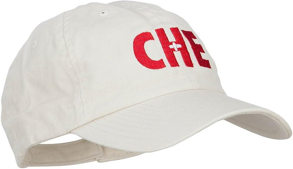 e4Hats.com Switzerland Che Flag Embroidered Low Profile Cap