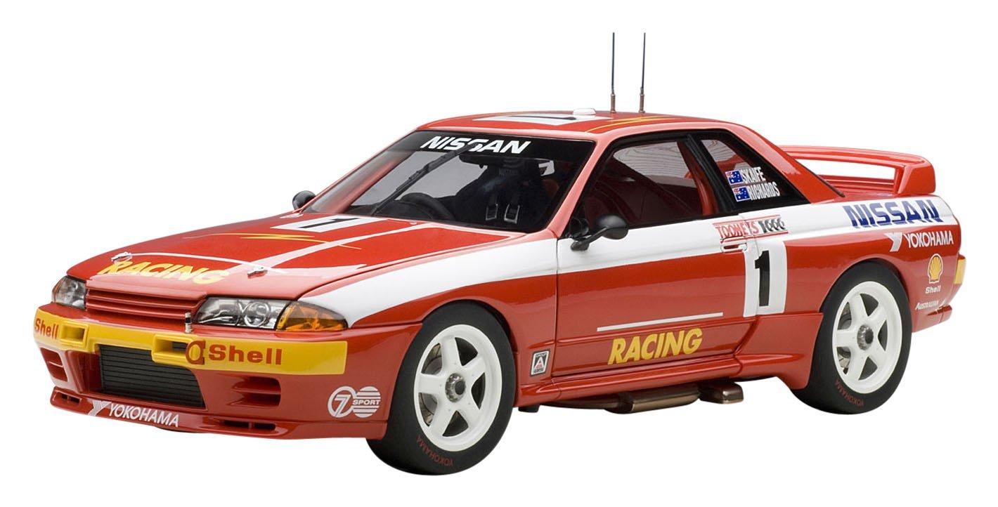 AUTOart 1/18 Nissan Skyline (R32) GT-R ATCC (Australia Touring Car Championship) 1992 1000 kilometros Bathurst carrera ganadora  1 (rojo)
