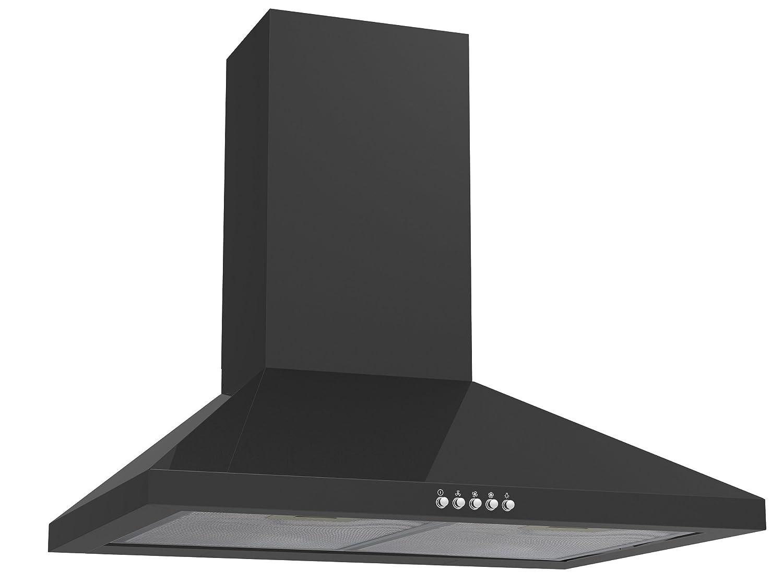 Cookology CMH605BK 60cm Chimney Cooker Hood in Black | Kitchen Extractor Fan