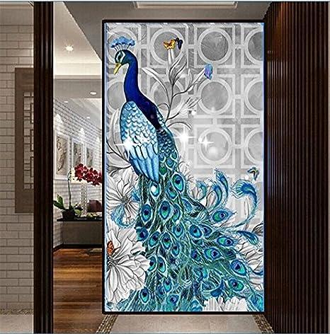 YGS-105 DIY 5D Diamonds Embroidery Diamond Mosaic New Peacock Soul Love Round Diamond Painting Cross Stitch Kits Home Decoration Bangwei