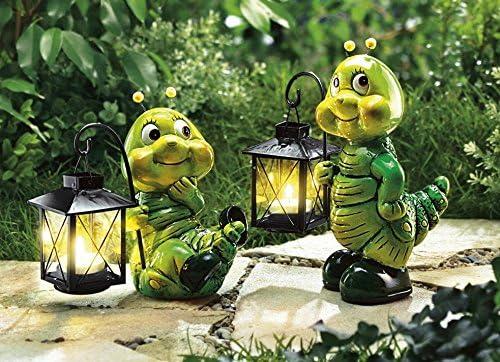 2 oruga con farol Figura decorativa animales Jardín Decoración portavelas: Amazon.es: Jardín