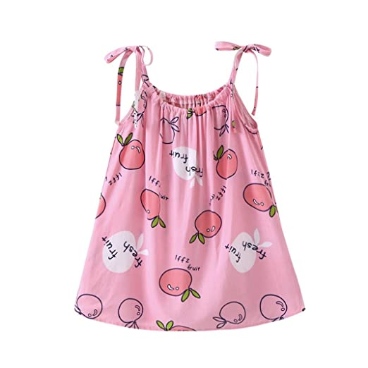 711788661a09 Image Unavailable. Image not available for. Color  Jarsh Infant Toddler  Baby Girl Dress Cartoon Straps Sundress Casual Princess Outfit Clothes