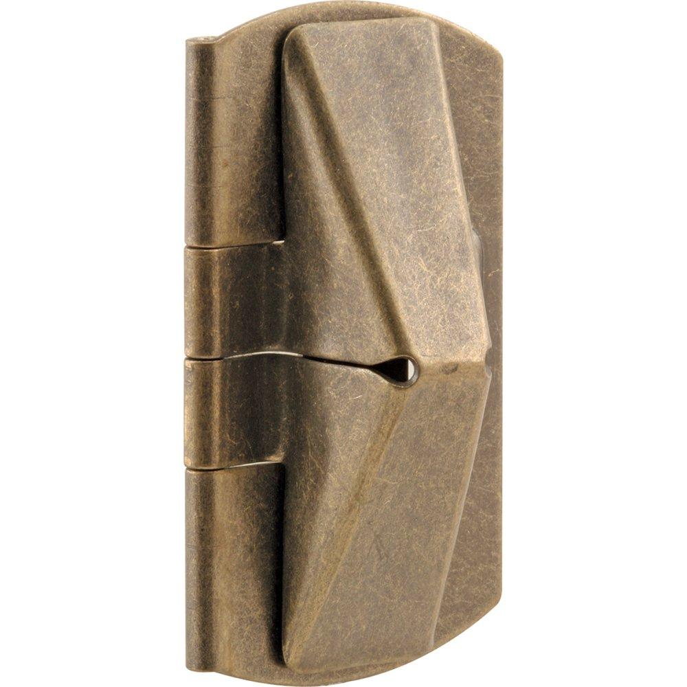 Defender Security U 9929 Double Hung Wood Window Flip Lock, 1 in. x 2 in. x 7/16 in., Steel, Antique Brass, 2-Pack