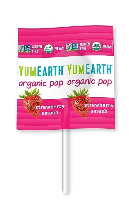 YumEarth - Piruletas Orgánicas de Frutas Vitamina C - 14 unidades: Amazon.es: Alimentación y bebidas