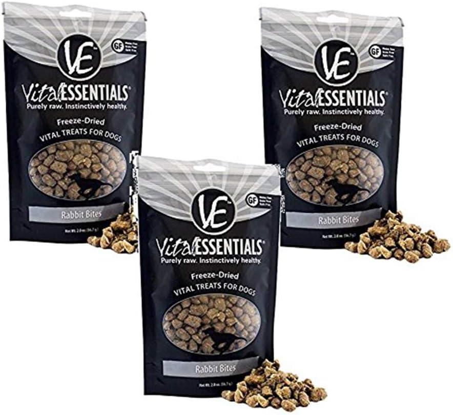 Vital Essentials Freeze-Dried Grain Free Limited Ingredient Dog Treats – 3 Pack