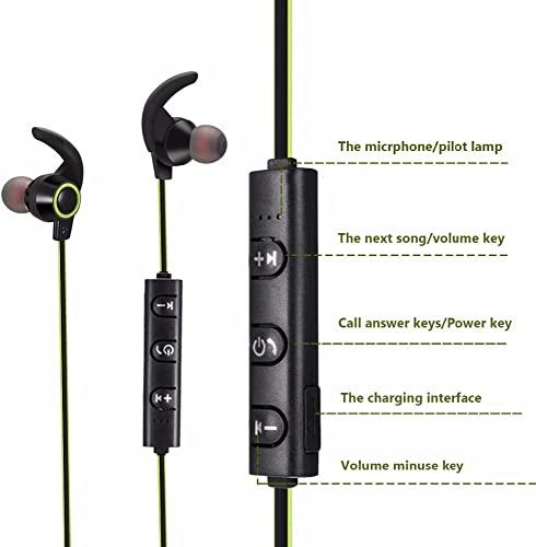 Latest Powerful Wireless Horn-Shaped Sweatproof 4.1 Blue Tooth Earphones with More Clear Talking