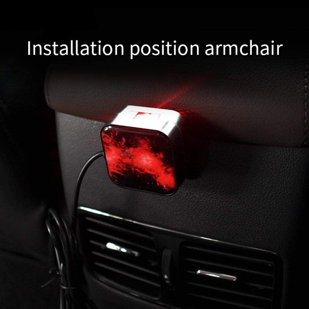 Car USB Atmosphere Light Projector Car Interior Lights LED Decorative Armrest Box Car Roof Full Star Projection with Remote Control for Car//Home//Party Volwco Car Ambient Star Light