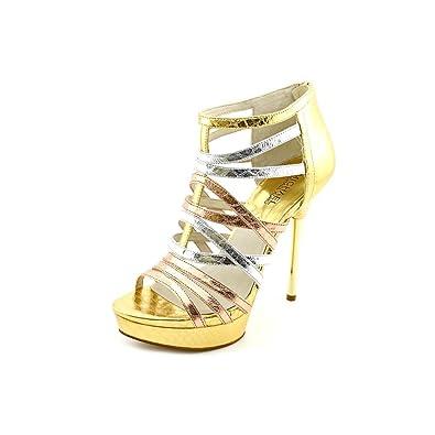 Maddie Platform Sandals Rose Gold (Size 7)