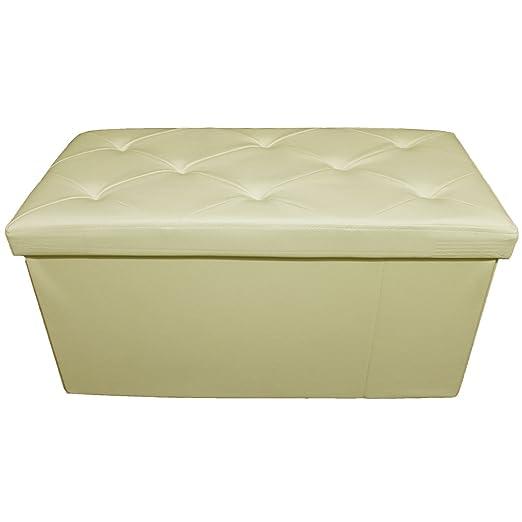 Ruso Tejidos Puf Puff Banco divisoria Caja Taburete Caja Plegable sintética: Amazon.es: Hogar