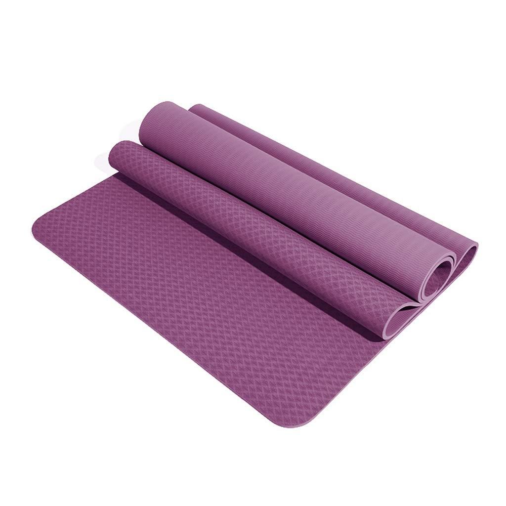 C ASJHK Tapis de Yoga TPE Tapis de Yoga épaississement élargissement Long débutant Hommes et Femmes Tapis de Sport Tapis de Fitness Tapis de Yoga antidérapant Tapis de Yoga 8mm