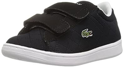 3e468654a Lacoste Baby Carnaby EVO 317 3 SPI Casual Shoe Sneaker Black 4 M US Infant